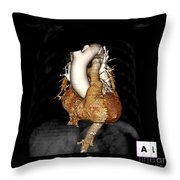 3d Ct Of Normal Heart Throw Pillow