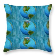3d Render Of Planet Earth 1 Throw Pillow