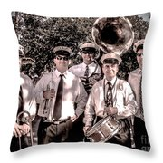 3rd Line Brass Band Throw Pillow by Renee Barnes