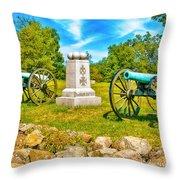 3rd Massachusetts Battery Gettysburg National Military Park Throw Pillow