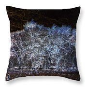 Harsh Winters Forecast Throw Pillow