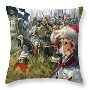 Chart Polski - Polish Greyhound Art Canvas Print Throw Pillow