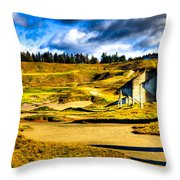 #18 At Chambers Bay Golf Course - Location Of The 2015 U.s. Open Tournament Throw Pillow