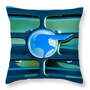1933 Pontiac Emblem -0467c Throw Pillow