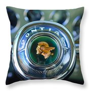 1933 Pontiac Steering Wheel Emblem Throw Pillow