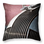 1935 Pontiac Sedan Hood Ornament Throw Pillow