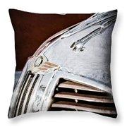 1938 Dodge Ram Hood Ornament Throw Pillow
