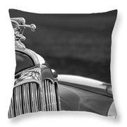 1942 Packard Darrin Convertible Victoria Hood Ornament Throw Pillow