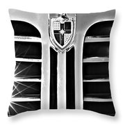 1948 Lincoln Continental Grille Emblem Throw Pillow