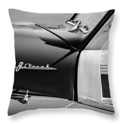 1948 Pontiac Streamliner Woodie Station Wagon Emblem Throw Pillow
