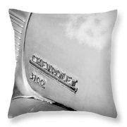 1949 Chevrolet 3100 Pickup Truck Emblem Throw Pillow