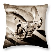 1952 Dodge Ram Hood Ornament Throw Pillow