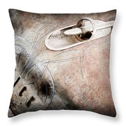 1954 Buick Special Hood Ornament Throw Pillow