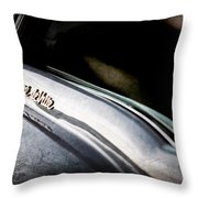 1954 Cadillac Coupe Deville Emblem Throw Pillow