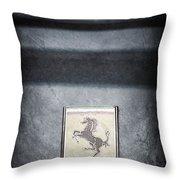 1956 Ferrari Emblem Throw Pillow