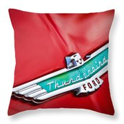 1956 Ford Thunderbird Emblem Throw Pillow