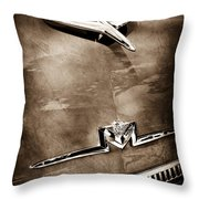 1956 Mercury Monterey Hood Ornament - Emblem Throw Pillow