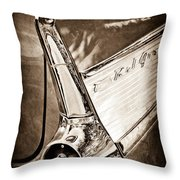 1957 Chevrolet Belair Taillight Emblem Throw Pillow