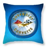 1958 Chevrolet Corvette Emblem Throw Pillow