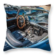 1959 Chevy Corvette Convertible Painted  Throw Pillow