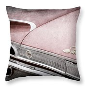1960 Ford Galaxie Starliner Taillight Emblem Throw Pillow