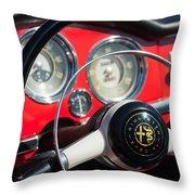 1961 Alfa Romeo Giulietta Spider Steering Wheel Emblem -1239c Throw Pillow