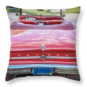 1963 Ford Falcon Sprint Convertible  Throw Pillow