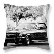 1965 Shelby Prototype Ford Mustang  Throw Pillow by Jill Reger