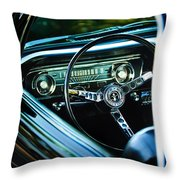 1965 Shelby Prototype Ford Mustang Steering Wheel Emblem Throw Pillow