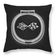 1967 Chevrolet Corvette Emblem Throw Pillow
