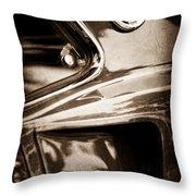 1969 Ford Mustang Mach 1 Emblem Throw Pillow