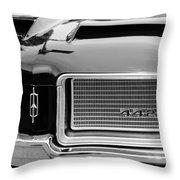 1972 Oldsmobile 442 Grille Emblem Throw Pillow