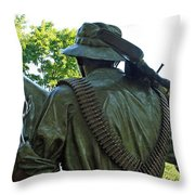 A Soldier's Hand Throw Pillow