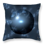 Abstract Blue Globe Throw Pillow