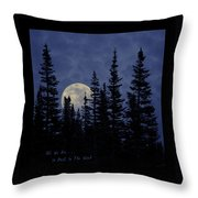 All We Are Is Dust In The Wind Throw Pillow