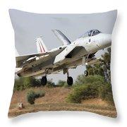 An F-15c Baz Of The Israeli Air Force Throw Pillow