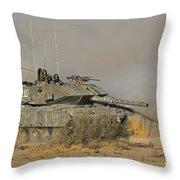 An Israel Defense Force Magach 7 Main Throw Pillow