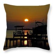 An Outer Banks North Carolina Sunset Throw Pillow