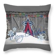 Anaheim Angels Throw Pillow