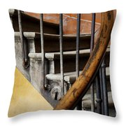Ancient Staircase Throw Pillow