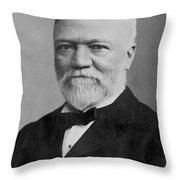 Andrew Carnegie (1835-1919) Throw Pillow