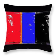 4 Angie Dickinson's Collage  Old Tucson Arizona 1968-2012 Throw Pillow