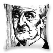Anton Bruckner (1824-1896) Throw Pillow