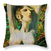 Aphrodite And  Cyprus Map Throw Pillow