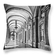 Arcades Of Lisbon Throw Pillow