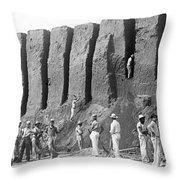 Archeologist At Work Throw Pillow