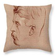 Arnold Bennett (1867-1931) Throw Pillow