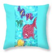 Art Fish Throw Pillow