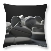 Aspirin Tablets Throw Pillow