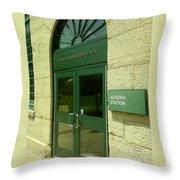 Aurora Transportation Center Throw Pillow